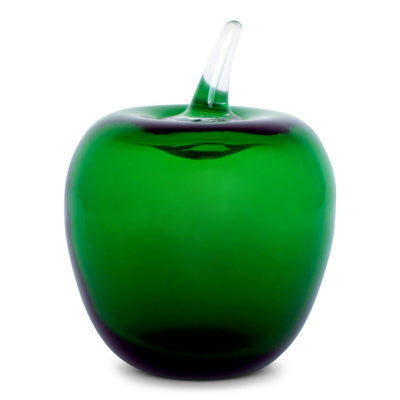 Clover Green Glass Apple
