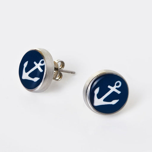 Anchor Stud Earrings - Chart Metalworks - The Shops at Mount Vernon