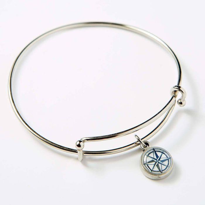 Compass Rose Bangle - Chart Metalworks - The Shops at Mount Vernon