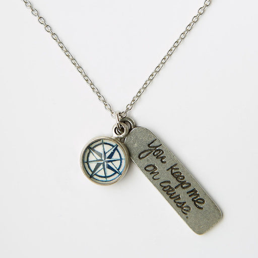 Compass Rose Necklace - Chart Metalworks - The Shops at Mount Vernon