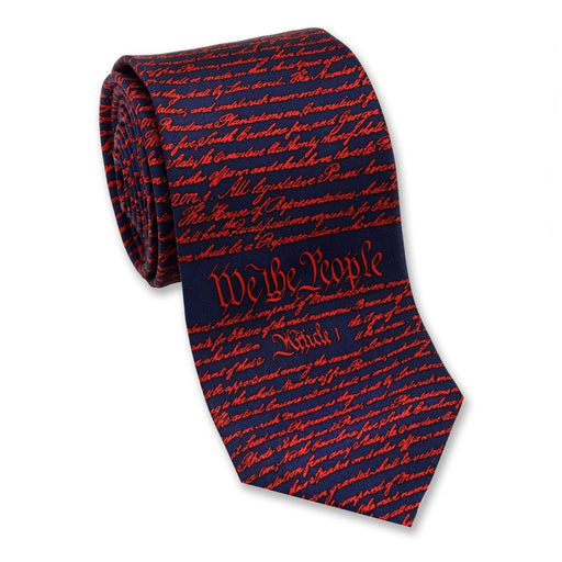 Constitution Tie Navy and Red - JOSH BACH LIMITED - The Shops at Mount Vernon