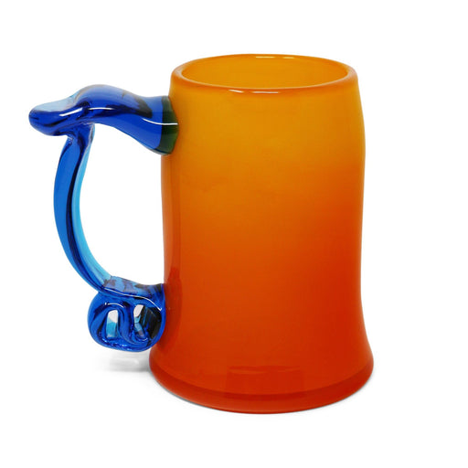 Paw Paw Tankard with Turquoise Handle - BLENKO GLASS COMPANY - The Shops at Mount Vernon