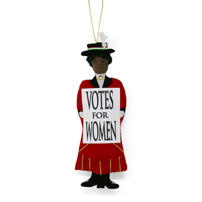 African American Suffragette Ornament - ST NICOLAS LTD. - The Shops at Mount Vernon