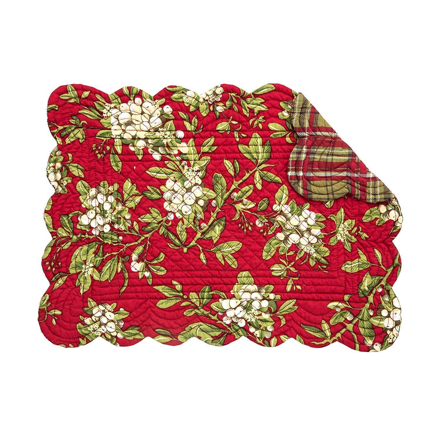 Mistletoe Leaves Placemat