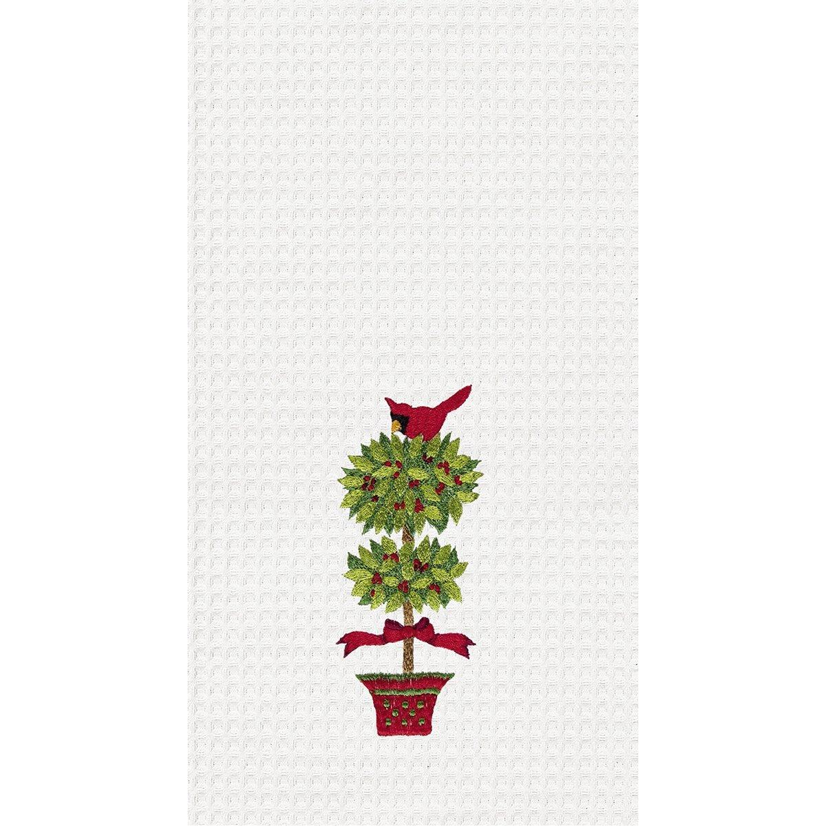 Cardinal Topiary Towel