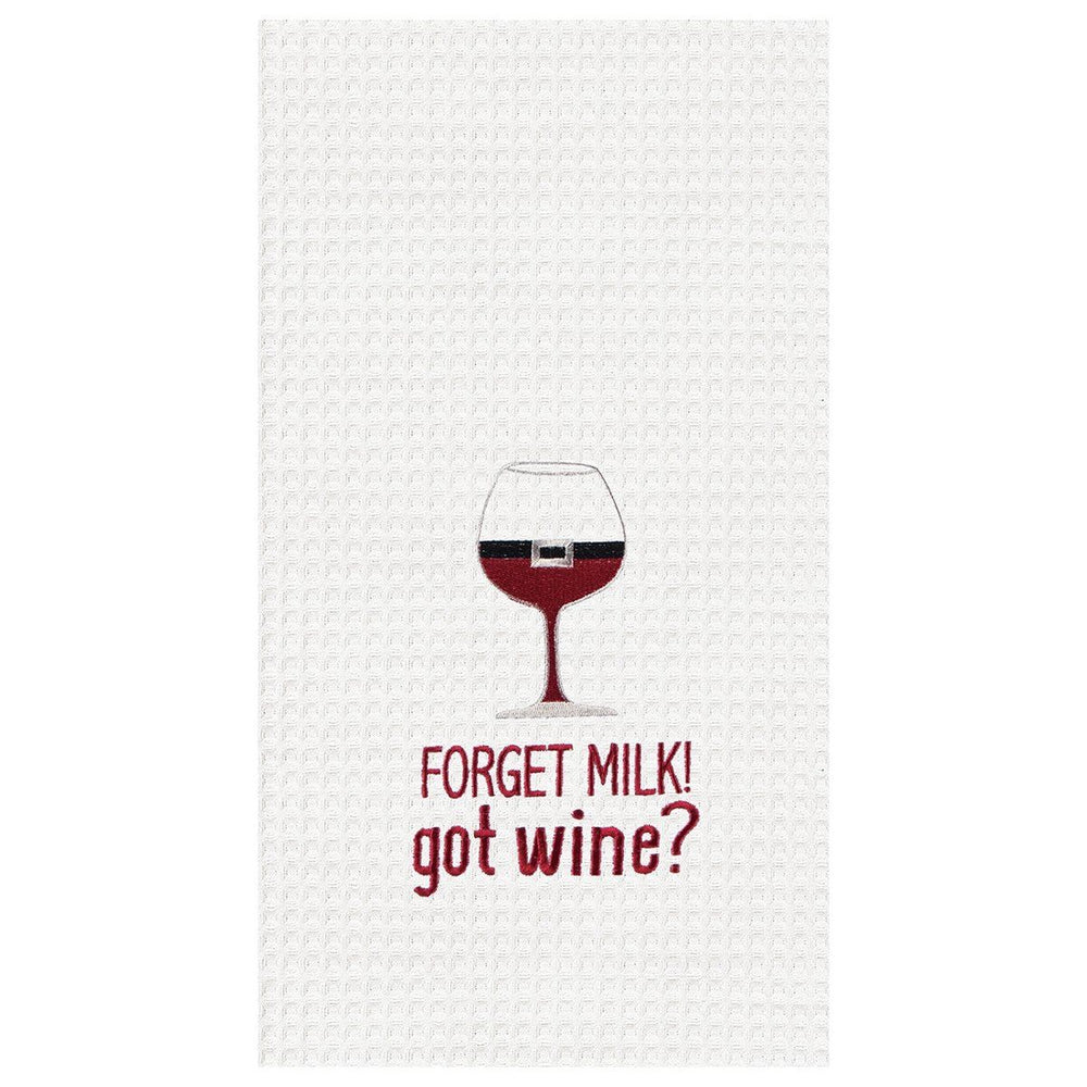 Forget Milk Got Wine Towel - C & F ENTERPRISE - The Shops at Mount Vernon