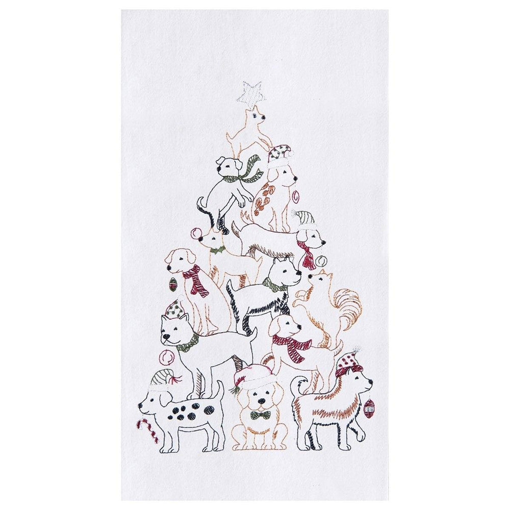 Puppy Christmas Tree Towel - C & F ENTERPRISE - The Shops at Mount Vernon
