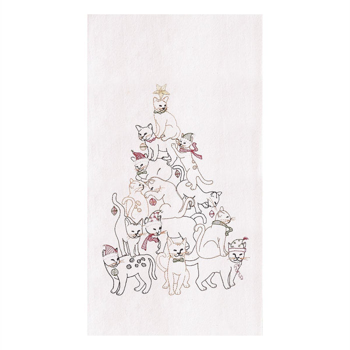 Cat Christmas Tree Towel - C & F ENTERPRISE - The Shops at Mount Vernon