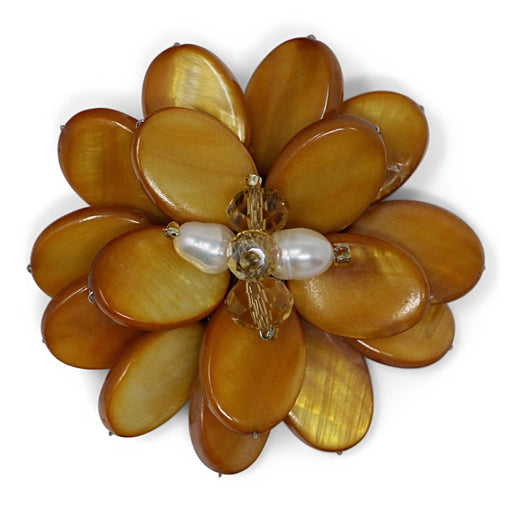 Yellow Zinnia Pin - Valerie Sanson - The Shops at Mount Vernon