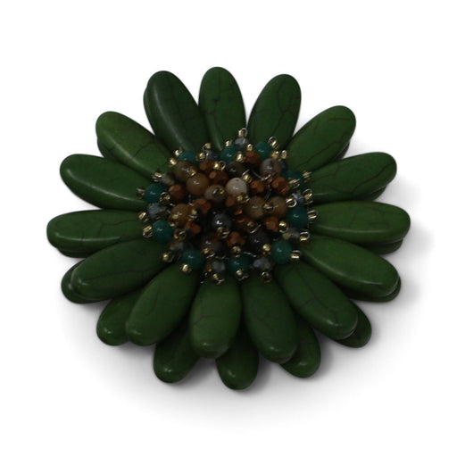Green Gerbera Daisy Pin - Valerie Sanson - The Shops at Mount Vernon