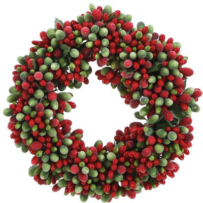 Holiday Beaded Berry Candle Ring