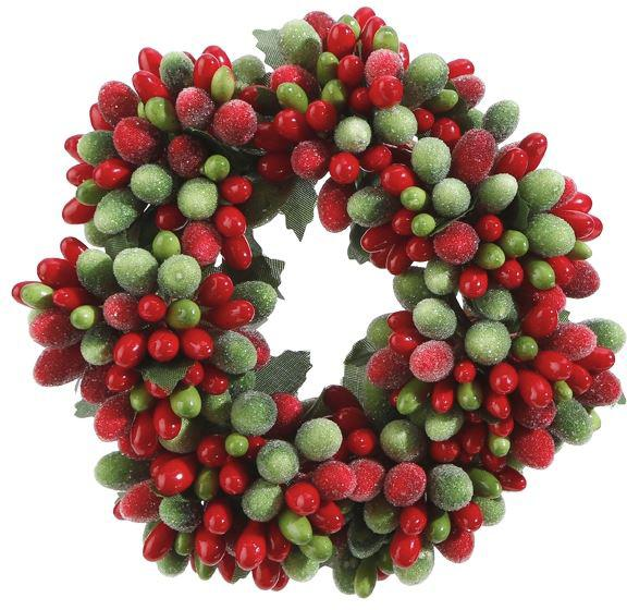 Holiday Beaded Berry Napkin Candle Ring