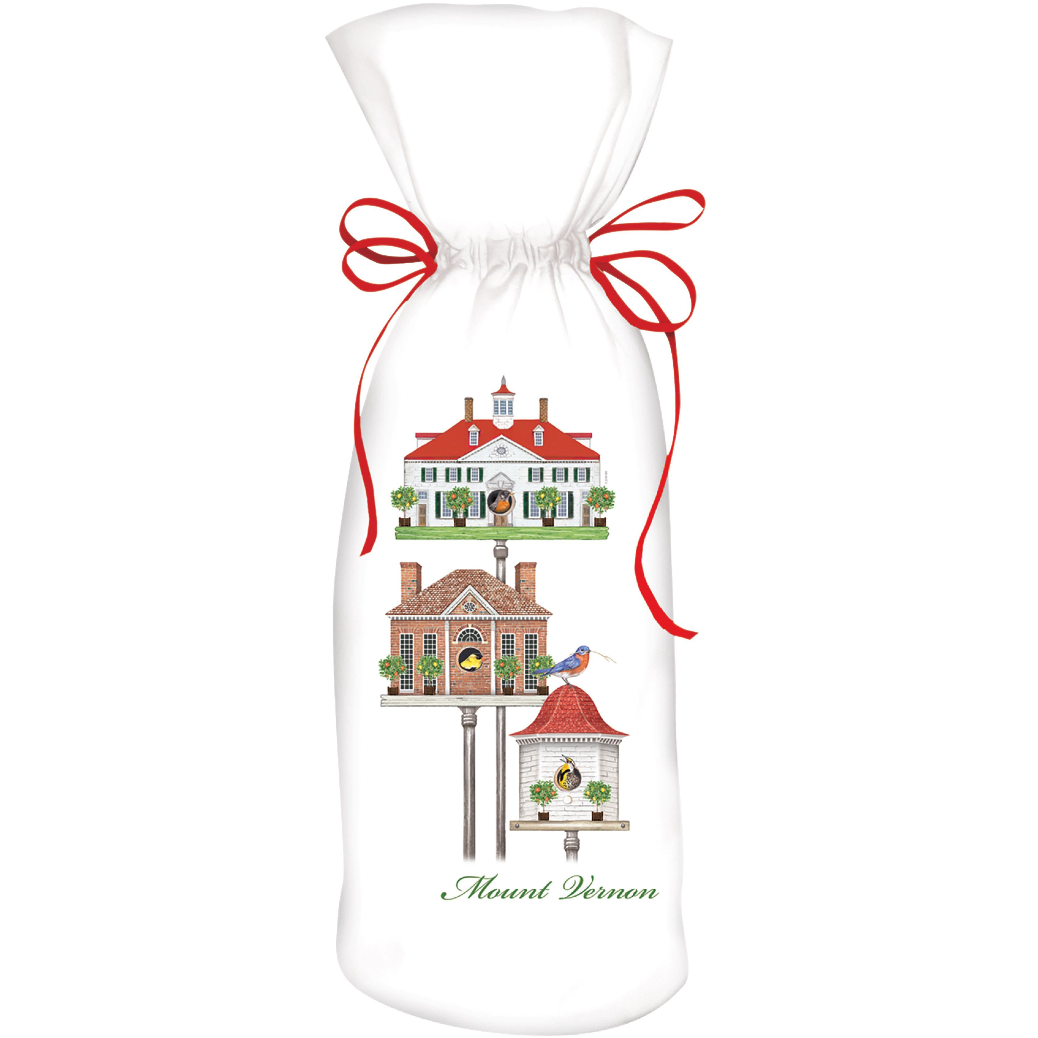 MV Spring Birdhouses Wine Bag