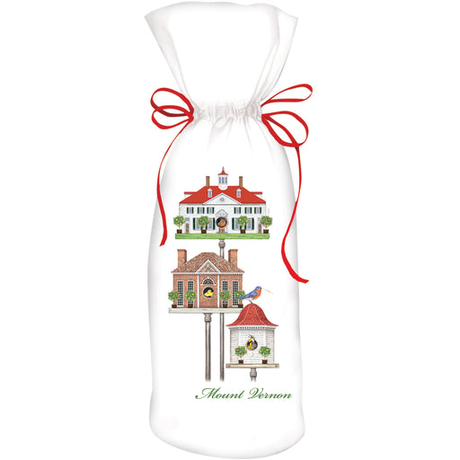 MV Spring Birdhouses Wine Bag - MARY LAKE-THOMPSON LTD - The Shops at Mount Vernon