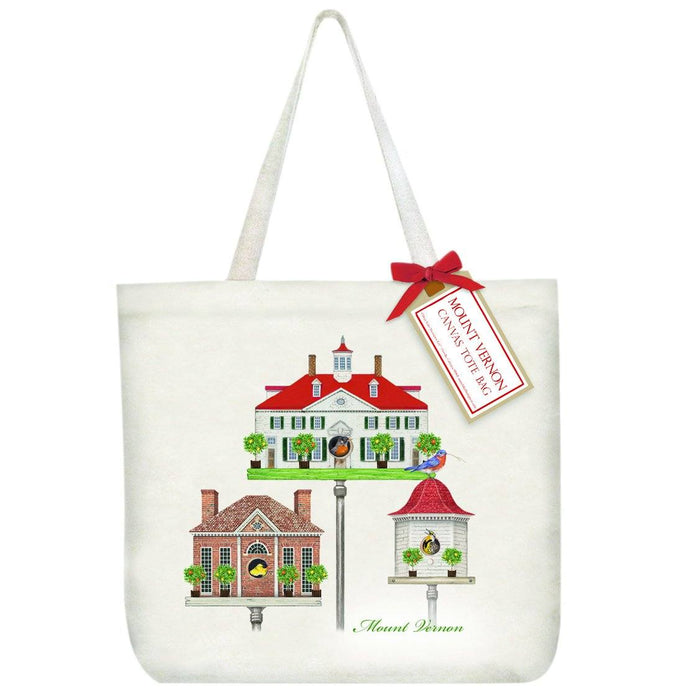 MV Spring Birdhouse Canvas Tote Bag - MARY LAKE-THOMPSON LTD - The Shops at Mount Vernon