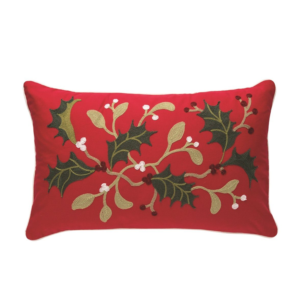 Holly Branch Pillow
