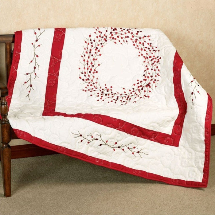 Berry Wreath Throw - C & F ENTERPRISE - The Shops at Mount Vernon