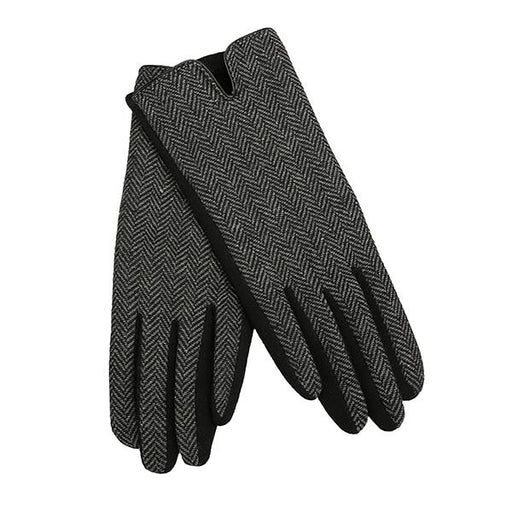 Black and White Herringbone Gloves - TOP IT OFF - The Shops at Mount Vernon