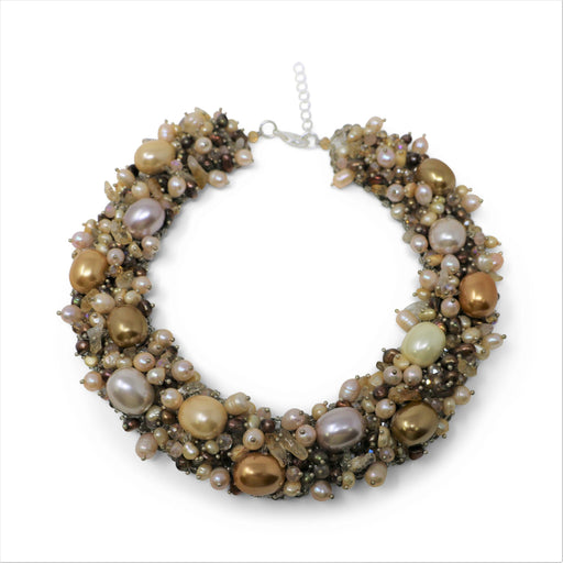 Autumn Pearl Neck Collar Necklace - Valerie Sanson - The Shops at Mount Vernon