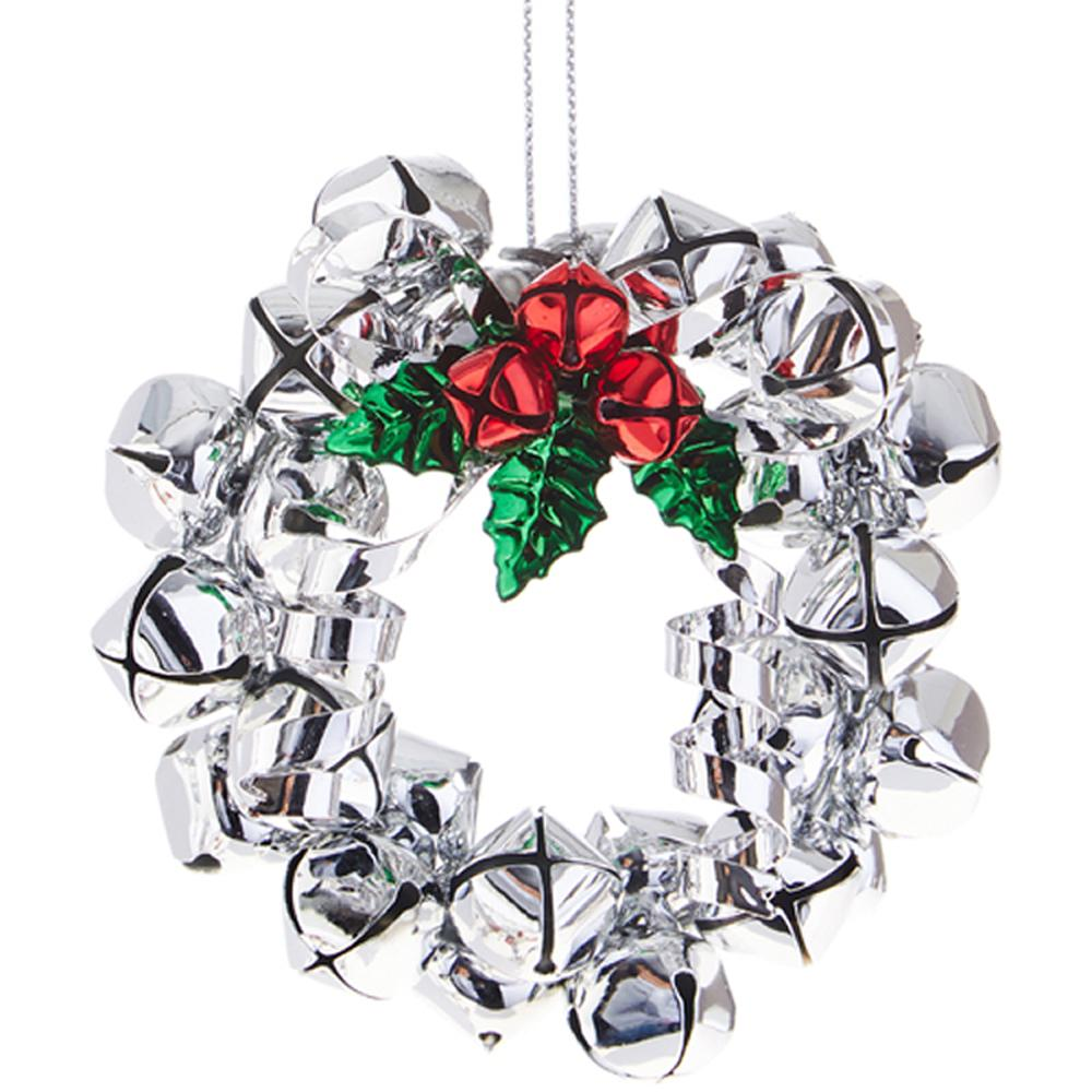 Jingle Bell Wreath Ornament - RAZ IMPORTS INC - The Shops at Mount Vernon