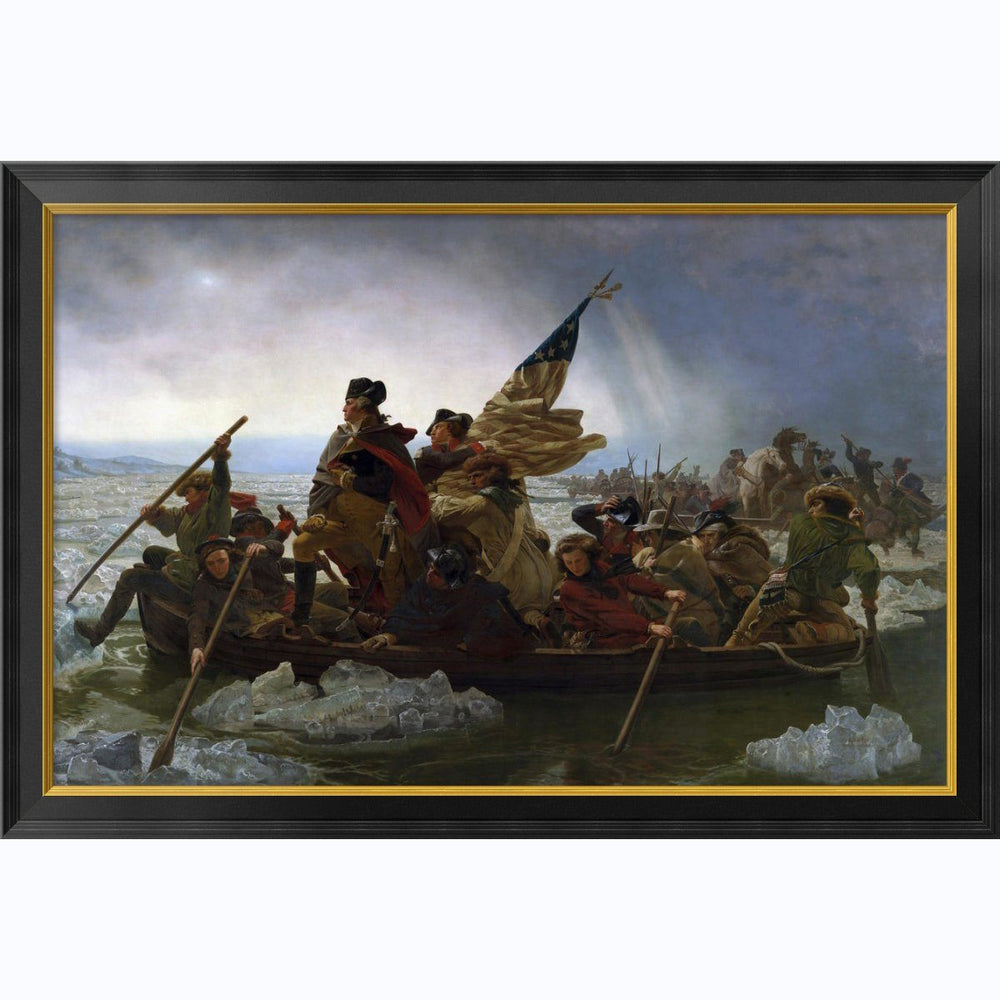 Crossing The Delaware:  Large  Framed Print - BENTLEY GLOBAL ARTS GROUP - The Shops at Mount Vernon