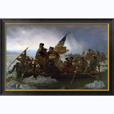 Crossing The Delaware:  Large  Framed Print