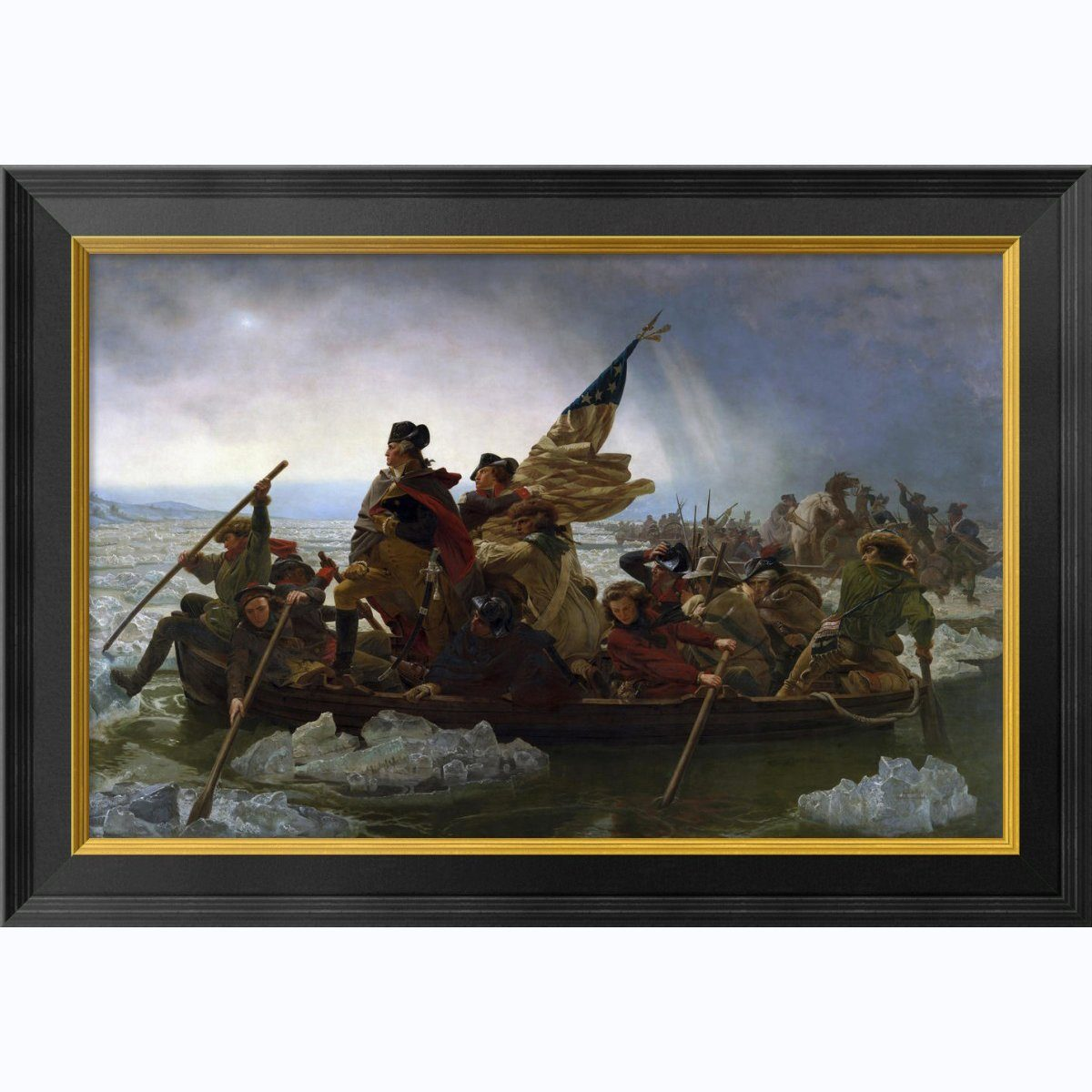Crossing The Delaware Medium Framed Print The Shops At