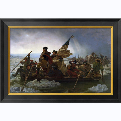 Crossing The Delaware: Medium Framed Print