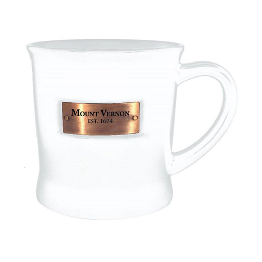 Mount Vernon White Copperplate Mug - CHARLES PRODUCTS INC. - The Shops at Mount Vernon