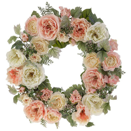 "Pastel Mixed 22"" Wreath - RAZ IMPORTS INC - The Shops at Mount Vernon"