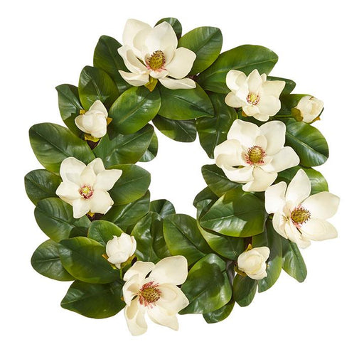 "Magnolia 23"" Wreath - RAZ IMPORTS INC - The Shops at Mount Vernon"
