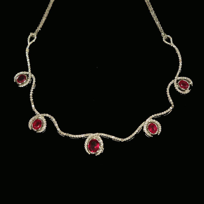 Ruby and Diamond Necklace - THE ANTIQUE GUILD - The Shops at Mount Vernon