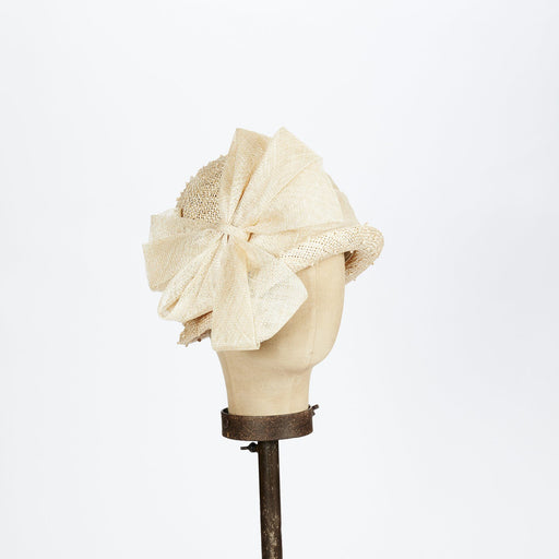 Natural Sisal Cloche Hat with Bow - Kathy Jeanne Inc - The Shops at Mount Vernon