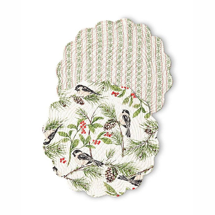 Chickadee Round Placemat - C & F ENTERPRISE - The Shops at Mount Vernon