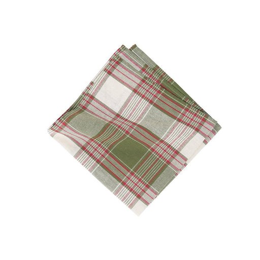 Chickadee Plaid Napkin - C & F ENTERPRISE - The Shops at Mount Vernon