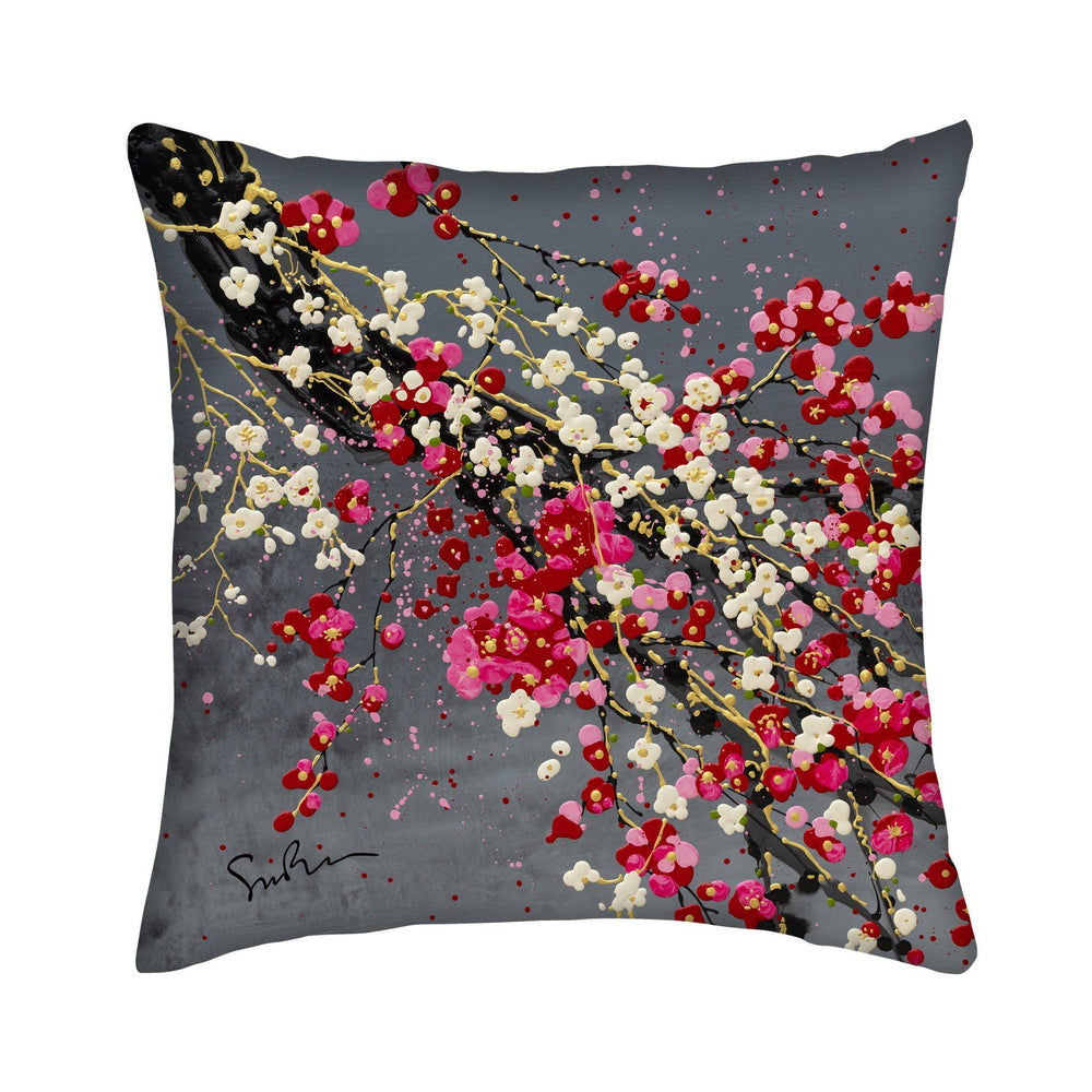 Mount Vernon Cherry Blossom Small Pillow by Simon Bull - Simon Bull Studios - The Shops at Mount Vernon