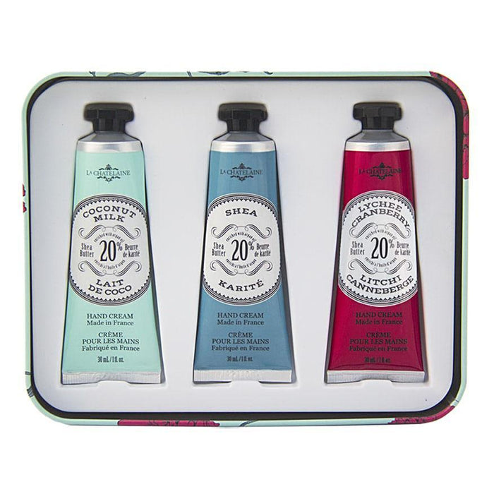 Aqua Hand Cream Trio Tin - La Chatelaine - The Shops at Mount Vernon
