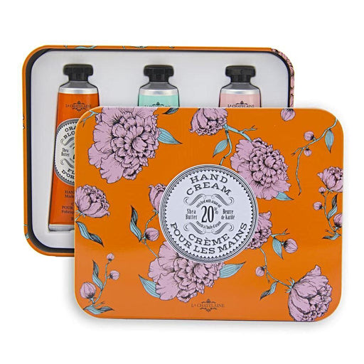 Orange Hand Cream Trio Tin - La Chatelaine - The Shops at Mount Vernon