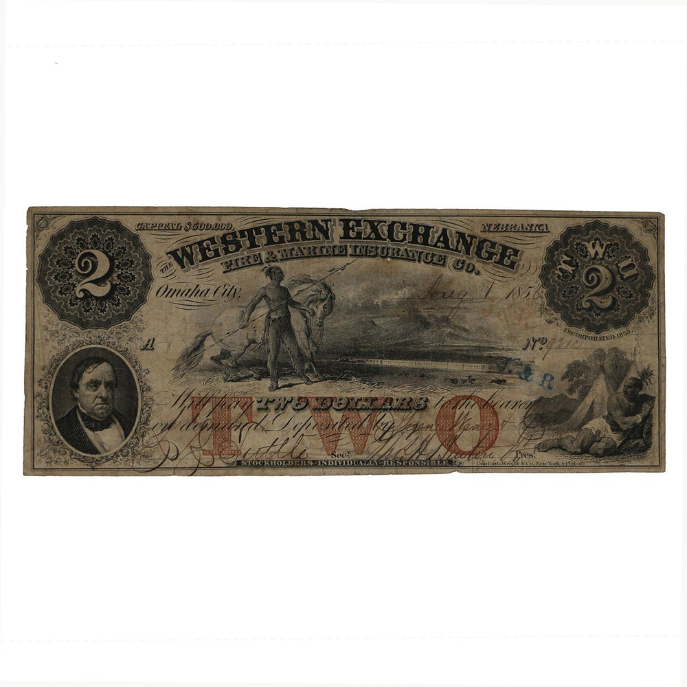 Western Exchange $2 Note - DAVID CONSOLVO - The Shops at Mount Vernon