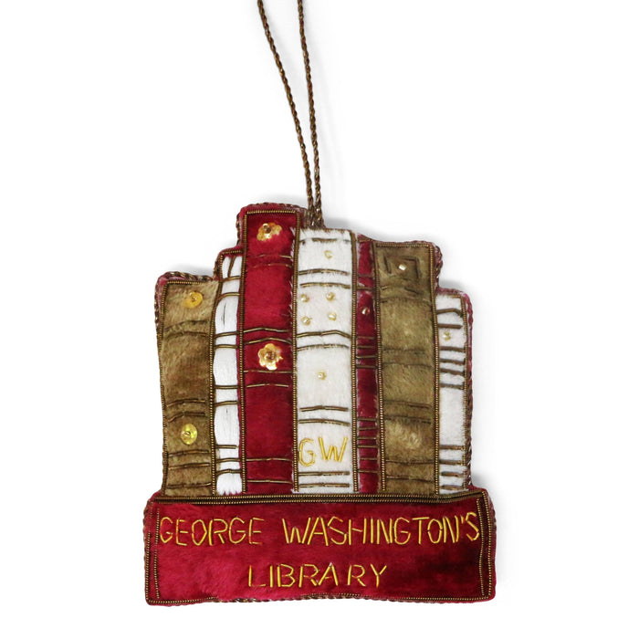 George Washington's Library Ornament - ST NICOLAS LTD. - The Shops at Mount Vernon