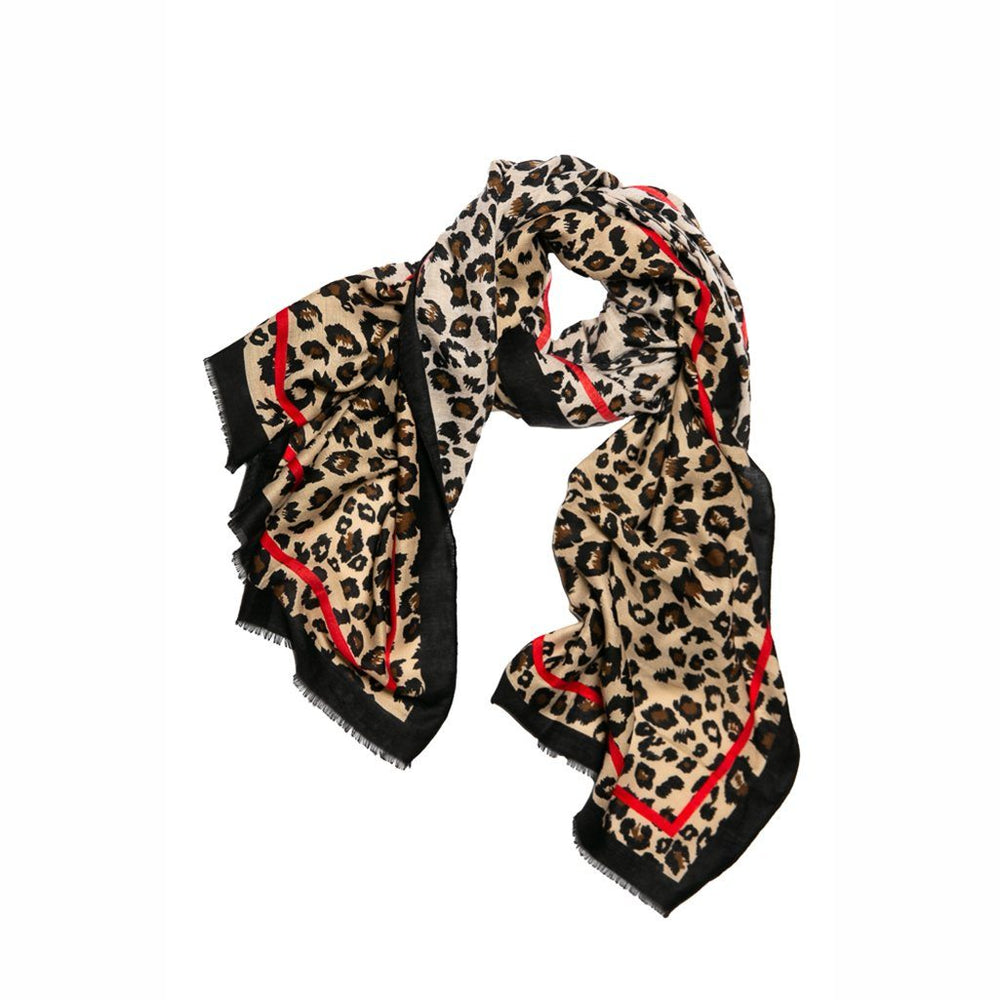 Red and Black Leopard Scarf - TOP IT OFF - The Shops at Mount Vernon