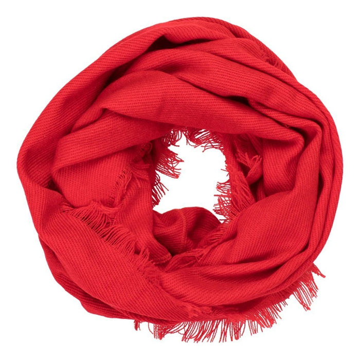 Solid Red Infinity Scarf - TOP IT OFF - The Shops at Mount Vernon