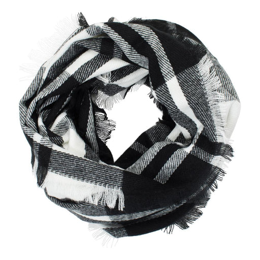 Black and White Infinity Scarf - TOP IT OFF - The Shops at Mount Vernon