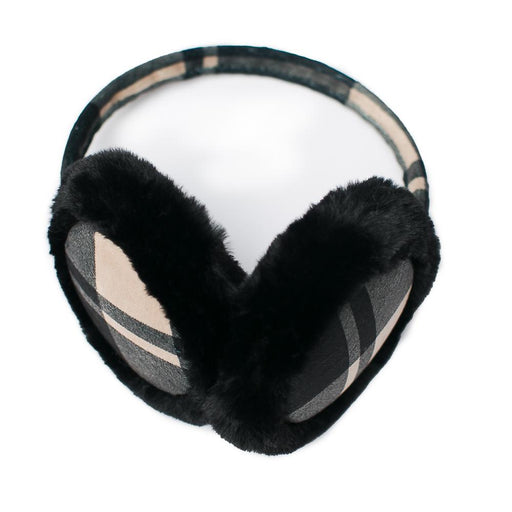Camel Plaid Earmuffs - TOP IT OFF - The Shops at Mount Vernon