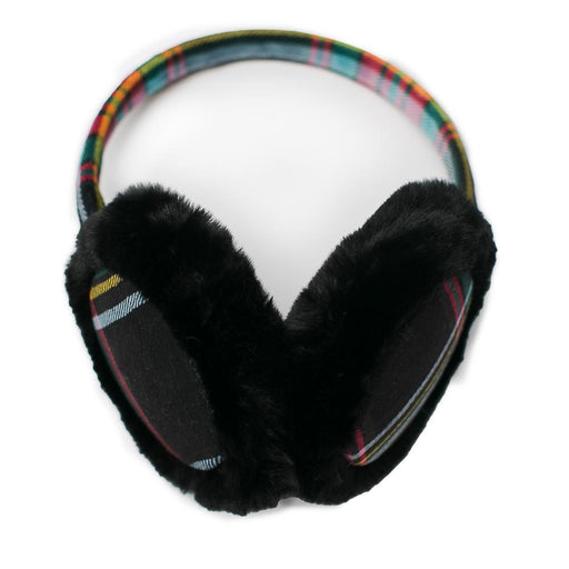 Black & Multi Color Plaid Earmuffs - TOP IT OFF - The Shops at Mount Vernon