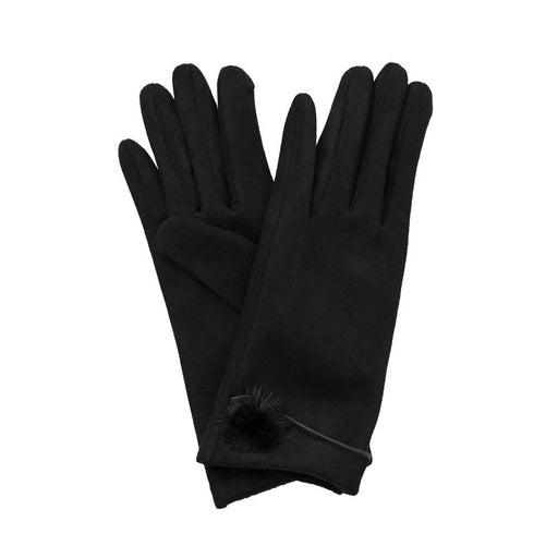 Black Mink Pom-Pom Gloves - TOP IT OFF - The Shops at Mount Vernon