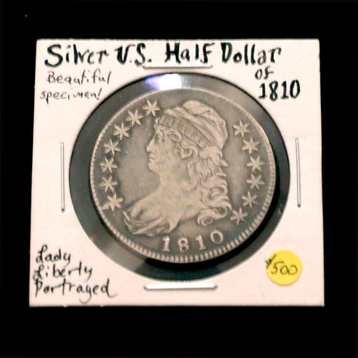 1810 Silver U.S. Half Dollar - DAVID CONSOLVO - The Shops at Mount Vernon