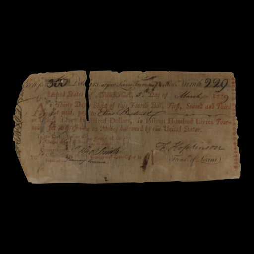 American Revolution 1779 Signed Document - DAVID CONSOLVO - The Shops at Mount Vernon