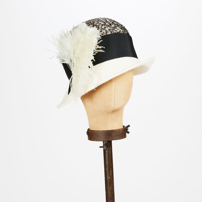 Black and White Cloche Hat - Kathy Jeanne Inc - The Shops at Mount Vernon