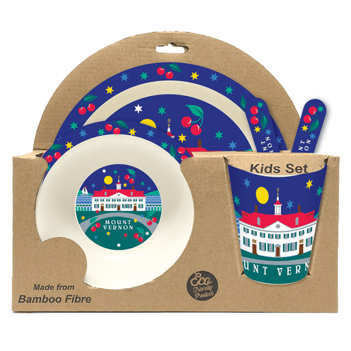 MV Cherry Kids Dish Set - CHARLES PRODUCTS INC. - The Shops at Mount Vernon